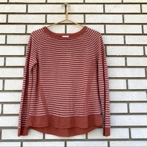 Garnet Hill Organic-Linen Angled-Rib Sweater